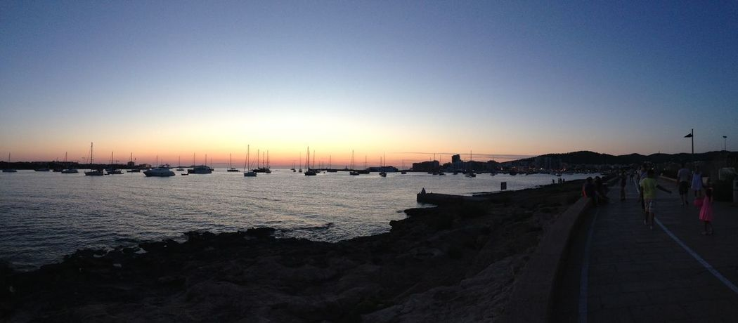 Ibiza Beach Beauty In Nature Clear Sky Nature Sea Silhouette Sky Sunset Water