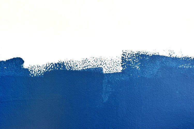 Blue color is painted on the white wall for background,copy space water Watercolour Splash Watercolor Texture Rough Messy Brush Abstract Water Wave Art Colors Color White Background Painted Paint Backgrounds Background Copy Space Water Drop Motion Blue No People Backgrounds Outdoors