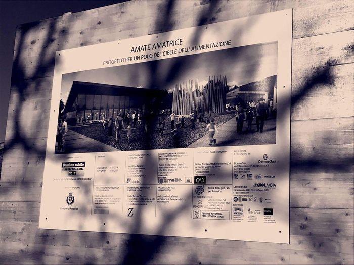 Artistic Photo Amatrice Architecture Sepia Shadow Shadows & Lights Areafood Areafood Amatrice Project Panel Ricostruzione Post Sisma La Rinascita Di Amatrice