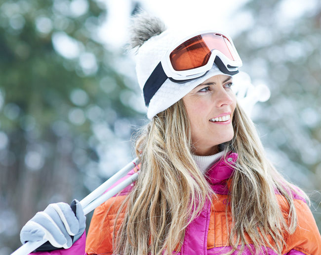 portrait of smiling woman in snow Active Adult Blond Hair Carry Clothing Cold Temperature Cross-Country Skiing Day Focus On Foreground Forest Hair Hairstyle Happy Headshot Holiday Leisure Leisure Activity Lifestyle Lifestyles Nature On The Way One Person Outdoors Outside People Portrait Real People Ski Ski Goggles Ski Holiday Ski Poles Ski Trip Skier Skiing Smile Smiling Snow Sport Warm Clothing Winter Winter Holiday Winter Sports Woman Women Young Adult Young Women
