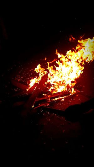 The fire within a man's body burns till death