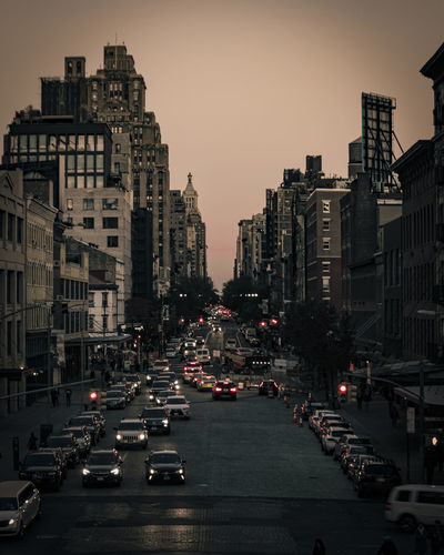 Dusk in the streets
