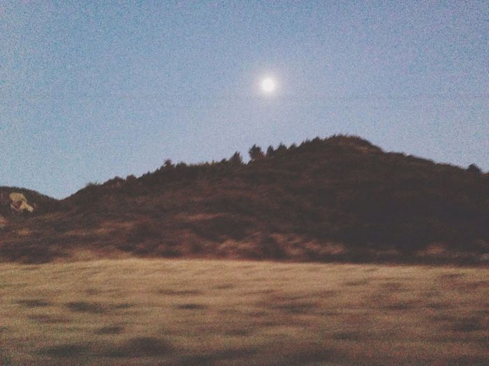 Full Moon Mountain Moon View From Car