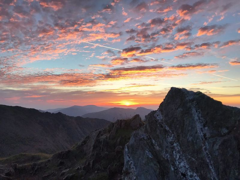 Sunrise over the summit of Snowdon ❤️⛰ Hiking Mountain Range Nature_collection Nature Beautiful Sunset Sky And Clouds Sky Cloud - Sky Wales Sunrise N Sunsets Worldwide  Sunrise Cloud - Sky Clouds Snowdonia National Park Snowdonia Snowdon Sunset Sky Scenics - Nature Cloud - Sky Beauty In Nature Environment Tranquility Tranquil Scene Mountain Range Majestic Outdoors Landscape Mountain