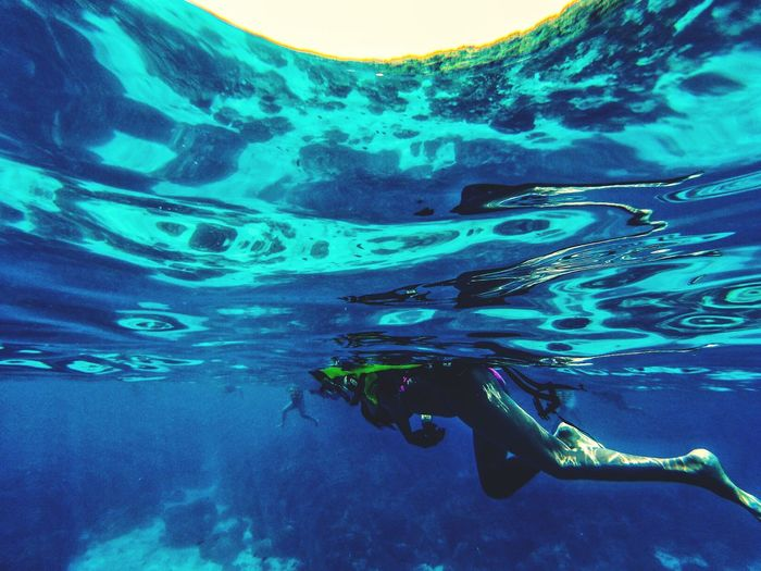 Snorkeling Southern Thailand Southeast Asia ASIA Outdoors Thailand Afternoon Clear Water Ocean Seascape Andaman Sea Underwater Woman Sunshine Phang Nga Phangnga