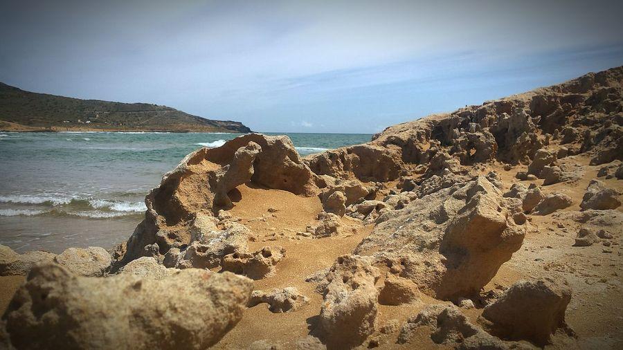 la duna de calblanque Dunas Calblanque Spain Cartagenaspain Calblanque Natural Park Calblanque Water Sea UnderSea Beach Sand Rock - Object Sky Horizon Over Water Rocky Coastline Rock Formation