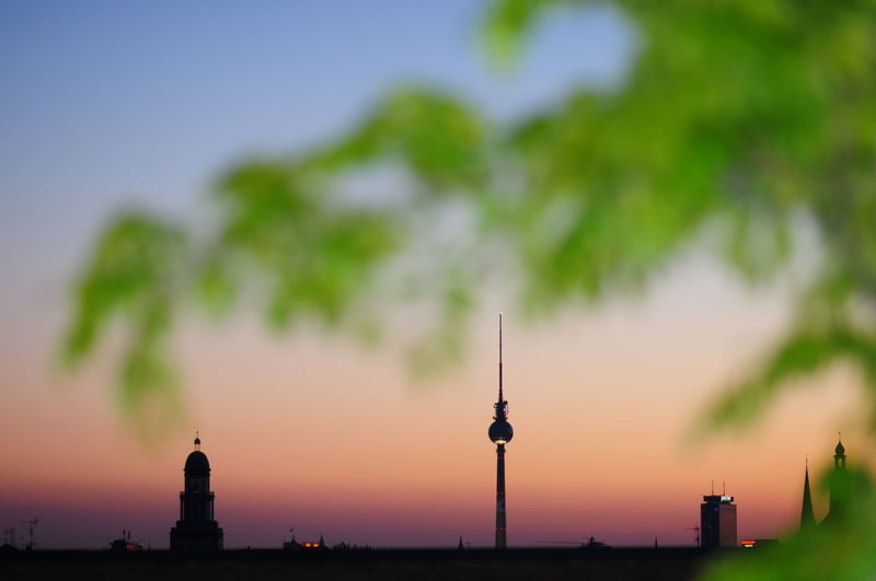 Beauty In Nature Berlin Cities At Night Dawn Dusk Fernsehturm Frankfurter Tor Friedrichshain Idyllic Nature Night No People Orange Color Outdoors Scenics Sky Sky And Clouds Skyline Skyporn Sunset Tower Tranquility