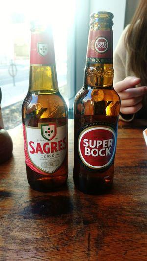 Cheers Super Bock Sagres Portugal Portuguese Portuguese Food Drink Alcohol Table Childhood Jar Bottle Close-up Food And Drink Beer Glass Beer Beer - Alcohol Lager Pub Beer Bottle Brewery Happy Hour Bar - Drink Establishment