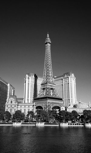 Replica Eiffel Tower Las Vegas Blackandwhite The Architect - 2015 EyeEm Awards Black And White Photography Streetphoto_bw Architecture_bw Street Photography Replica  Travel Photography