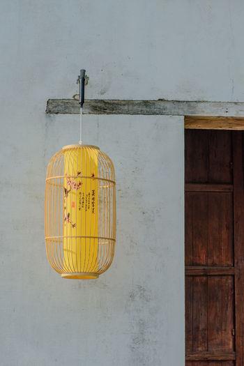 Anhui,China Lantern Wall Buddhism Lluminated Old House Wooden Texture Ziseetheworld Ziwang