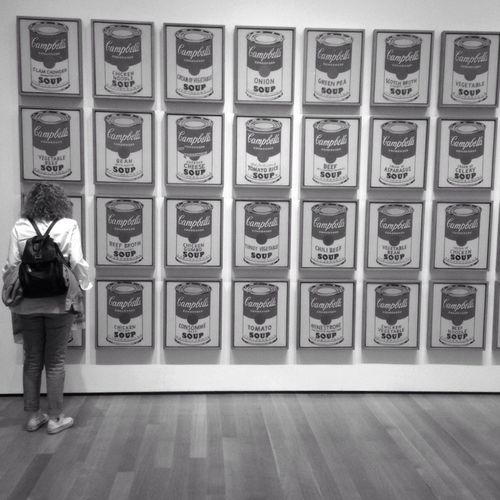 No me gusta la sopa!!!!! / I do not like the soup!!!!! B+W Moma Andywharhol Manhattan