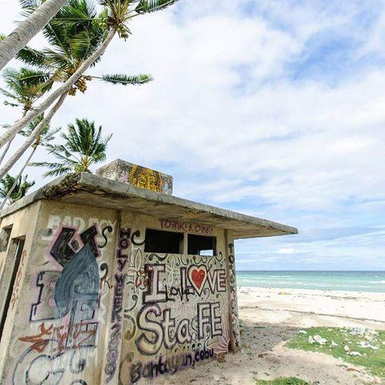 I love Santa Fe! An abandoned structure along Sugar Beach in Santa Fe, Bantayan Island BantayanIsland  Santafe Cebu Philippines beach beaches travelgram travelgasm travelphotography instagood instatravel guardiantravelsnaps cntraveler natgeotravel cnntravel bbctravel graffiti streetart