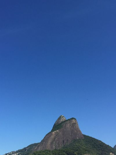 2 brother Rio De Janeiro Blue Sky Copy Space Clear Sky Mountain Scenics - Nature Nature Beauty In Nature No People Tranquility Day Travel Destinations Rock - Object Environment Outdoors Low Angle View Non-urban Scene Tranquil Scene Rock Land