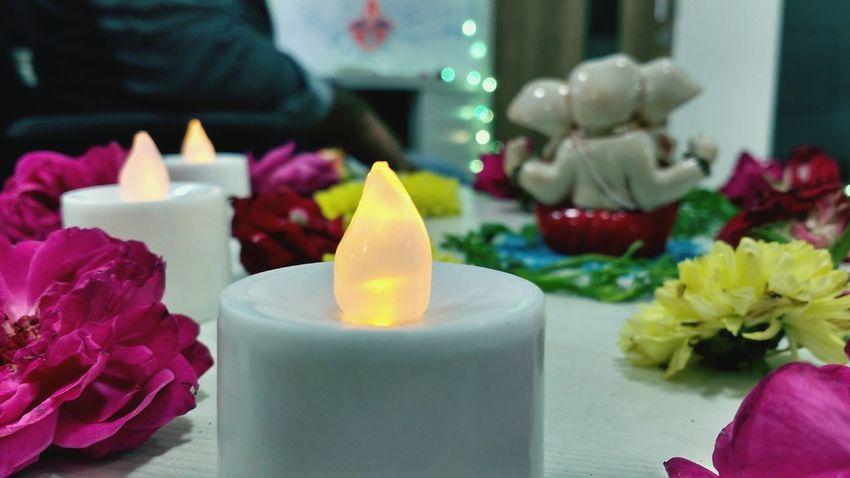 Diwali.. Candle Flame Multi Colored Burning Celebration Indoors  No People Close-up Shot_on_moto_g3 Diwali Lights Diwali💟🎇🎆🌌