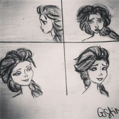 Espressioni di Elsa♥ MyDrawing Frozen ElsaDrawing Queenofarendelle Queenelsa Speeddrawing Disegnare Disegno Espressioni Emozioni