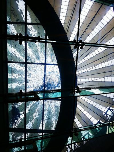 Quenched screening Hidden Gems  Potsdamer Platz Sony Center Berlin Cinema From My Point Of View Beneath Your Feet Above Water EyeEm Best Shots Silhouettes Lines Squares Canopy Aqua Ceiling Skylight