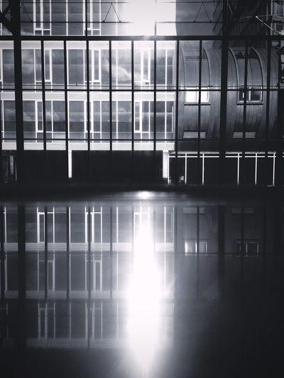 Architecture Built Structure Building Exterior Reflection Window Building No People Sunlight Transportation Public Transportation Mode Of Transportation Glass - Material Outdoors Nature Railing Metal City