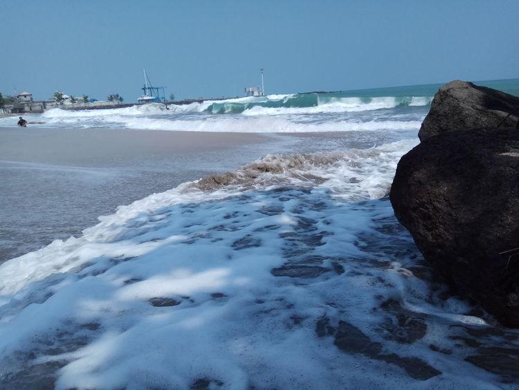 Water Wave Sea Beach Sand Blue Sky Horizon Over Water Landscape Coastal Feature Rocky Coastline Low Tide Seascape Surf Tide