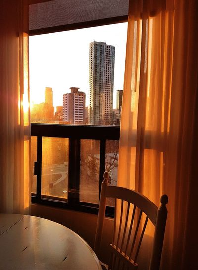 Cityscape Sunset Cityscape Urban Skyline Downtown District Window View Evening Light