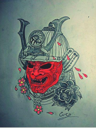 Samurai Popular Tatto ✌ Instagood, #tweegram #photooftheday #sketch,#sketchclub,#malen,#painting,#instagram,#picoftheday,#art,#star,#followme,#follo People And Art Today's Hot Look Ink Addict  Art, Drawing, Creativity Respect Roses🌹