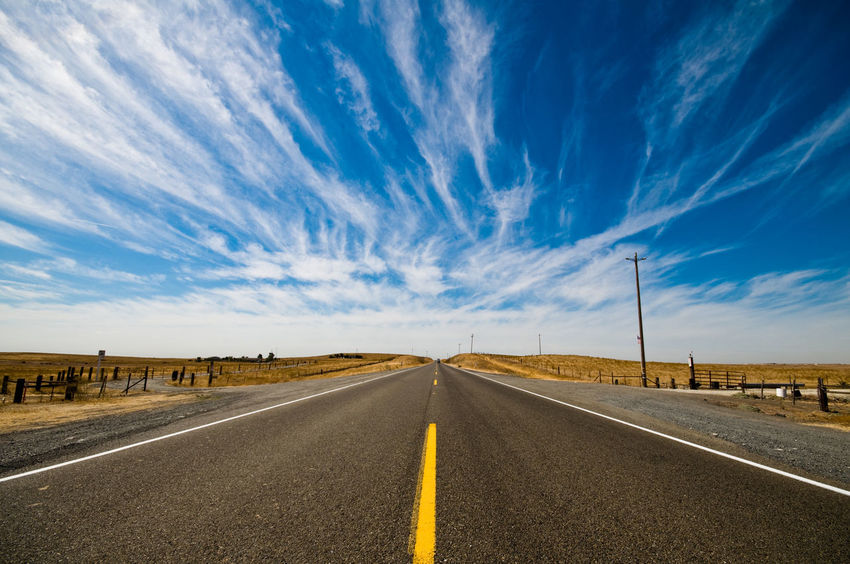 On the road to Napa Asphalt Beauty In Nature California Clear Road Cloud - Sky Day Desert Diminishing Perspective Dividing Line In The Road Landscape Low Angle View Nature No People No Traffic Outdoors Road Road Marking Scenics Sky The Way Forward Tranquil Scene Transportation White Line Yellow