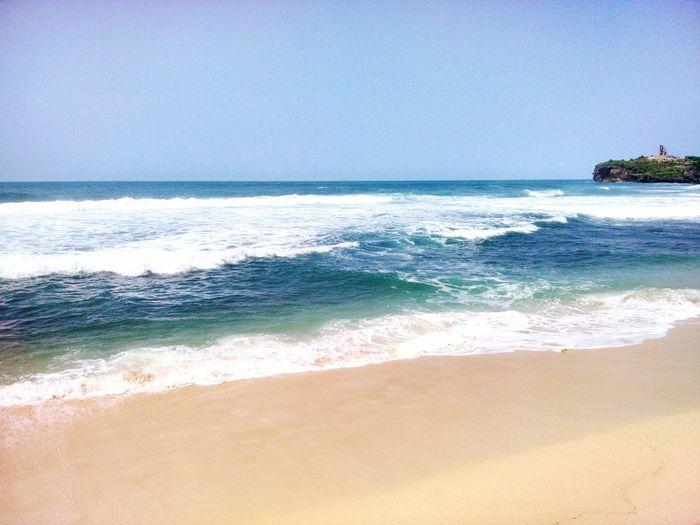 Hello from Yogyakarta, Indonesia 😉 Beach Sand Water Beauty In Nature INDONESIA Yogyakarta Slili Visitindonesia Visityogya