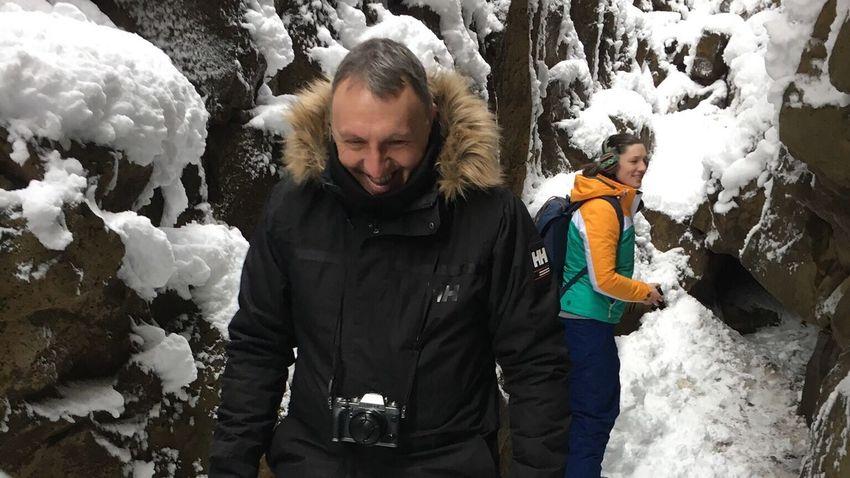 In between tectonic plates, Pingvellir National Park, Iceland Pingvellir Tectonic Snow Iceland