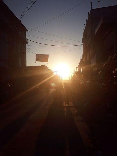 Urban Evening Skyline People Sunset City Sunbeam Capture Tomorrow