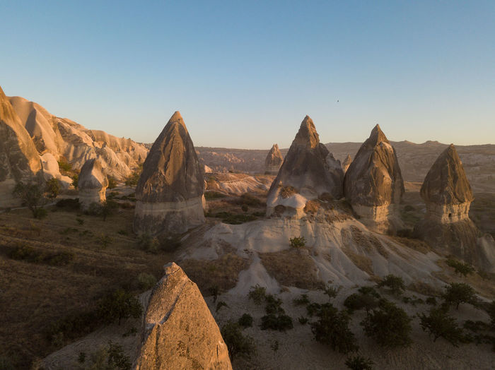World best hot air balloon destination. Goreme, Turkey. Turkey Göreme Cappadocia Sky Scenics - Nature Tranquil Scene Landscape Rock Tranquility Beauty In Nature Environment Mountain Rock - Object Nature Non-urban Scene Clear Sky Solid Mountain Range No People Idyllic Land Climate Arid Climate Outdoors Formation
