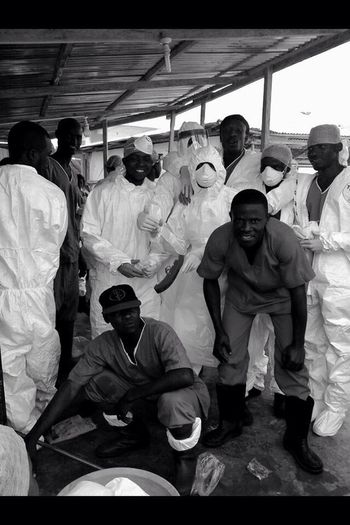 My Heroes & friends fighting Ebola every day , 2 months without pay but at work every day trying to do always the best /Togheter against Ebola ,Sierra Leone jan 2015 Unlikely Heroes.