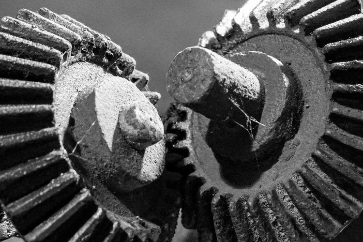 Close-up of rusty wheel
