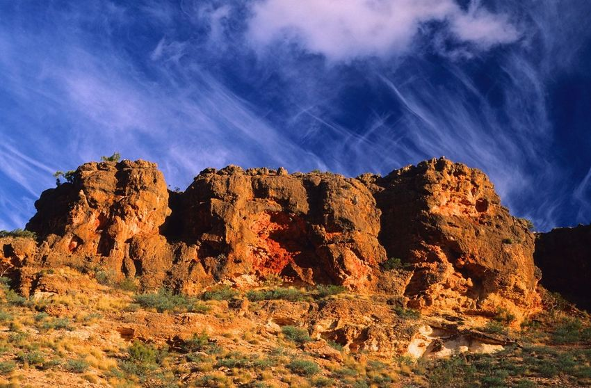 Western Australia Arid Climate Beauty In Nature Cape Range National Park Climate Cloud - Sky Environment Eroded Formation Geology Landscape Mountain Mountain Peak Nature No People Physical Geography Remote Rock Rock - Object Rock Formation Scenics - Nature Sky Solid Tranquil Scene Tranquility