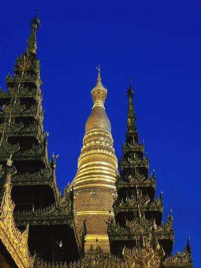 Golden Peaceful Place Deep Blue Sky Cultures Religion Architecture Gold Outdoors