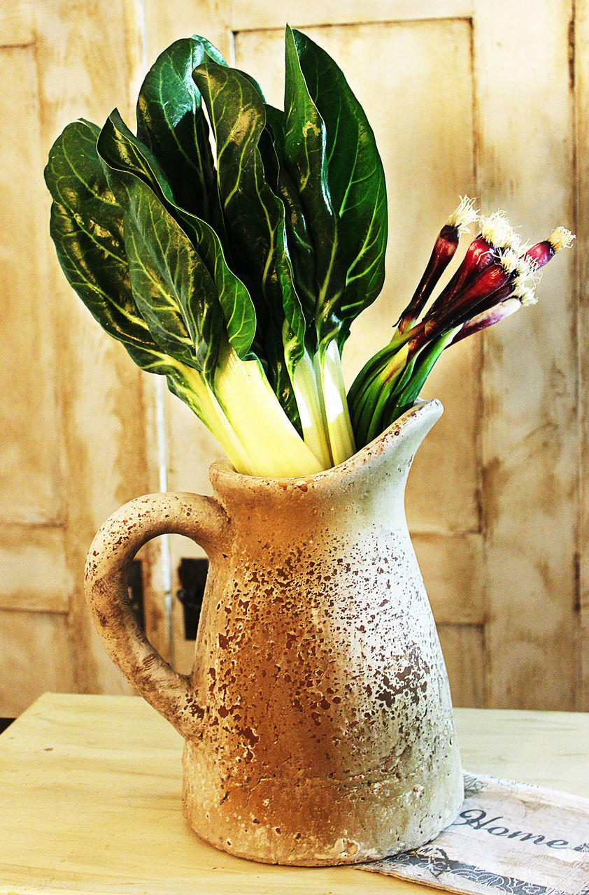 freshness, vase, flower, flowering plant, table, still life, plant, no people, indoors, food and drink, nature, close-up, beauty in nature, food, focus on foreground, wood - material, potted plant, fragility, cup, flower head, flower arrangement