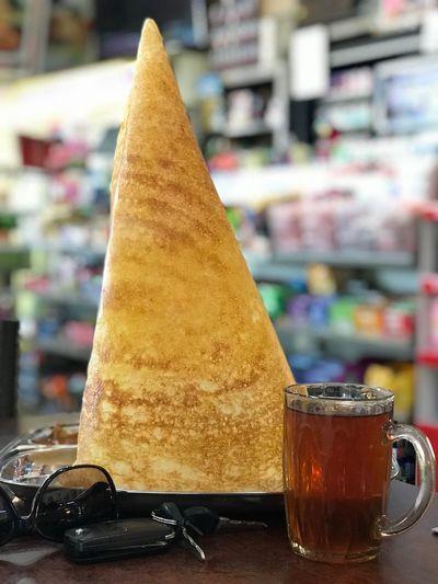 Breakfast Indianfood Thosai Cone Sweet Food Indoors  Sweet Temptation Drink