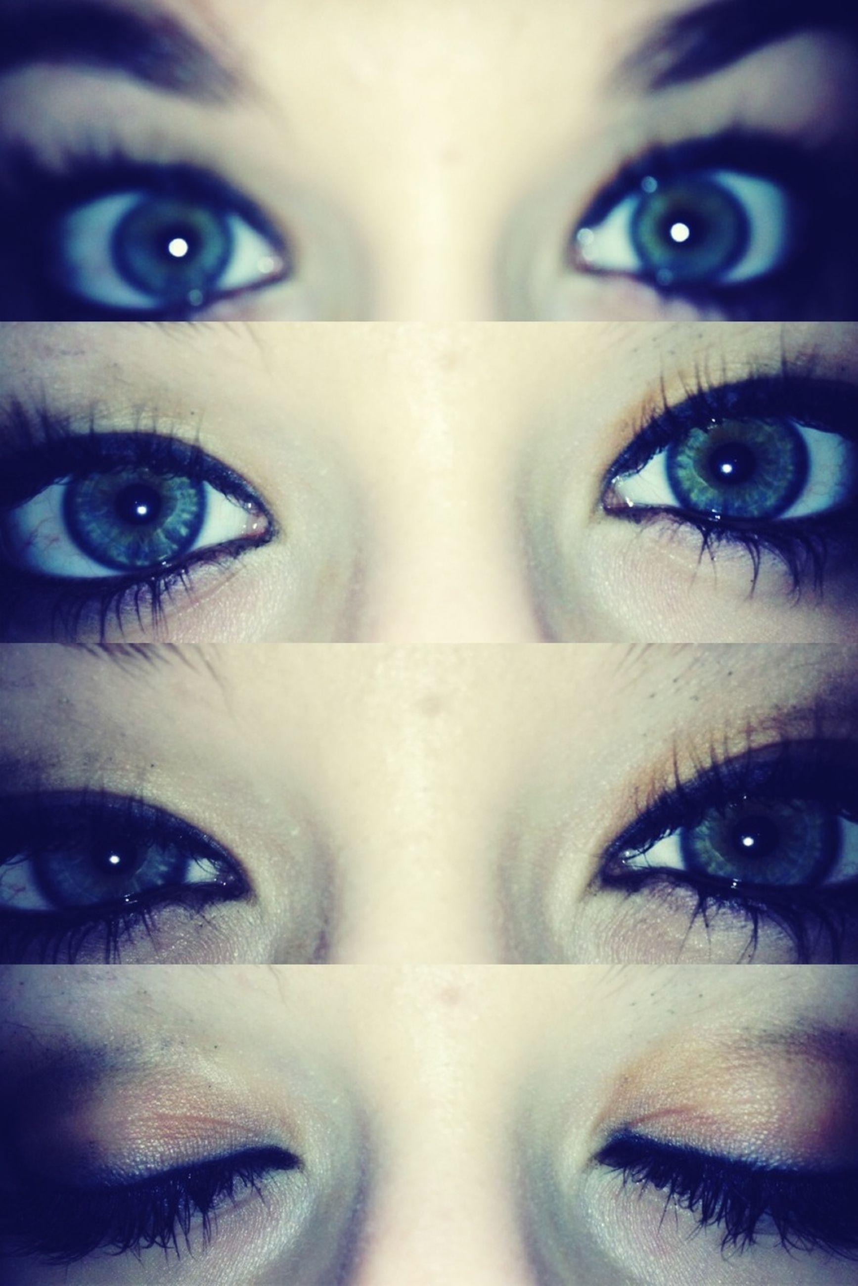 looking at camera, close-up, portrait, human eye, human face, young adult, headshot, indoors, lifestyles, young women, studio shot, front view, part of, eyelash, human skin, make-up
