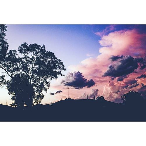 Cranebrook Sydney Warm Afternoon clouds pink australia spring