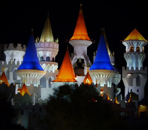 Castle Excalibur Hotel Nightlife Nightphotography Orange And Blue Las Vegas Las Vegas Hotel Magical Magical Places Just Taking Pictures Taking Pictures Walking Around Taking Pictures All The Neon Lights