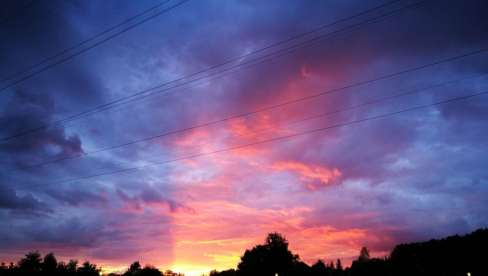 Silhouette Sunset Tree Sky Tranquil Scene Scenics Power Line  Cloud - Sky Tranquility Cable Low Angle View Beauty In Nature Cloud Atmospheric Mood Nature Dramatic Sky Power Cable Idyllic Majestic Cloudscape Nofilter My Year My View