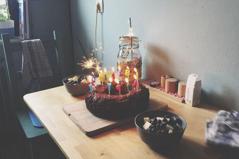 EyeEm Selects Candle Flame Burning Indoors  Table No People Home Interior Birthday Candles Heat - Temperature Celebration Flower Birthday Cake Day Close-up Freshness