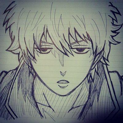 ボールペン一発落書き Anime Comic Gintama Gintoki Illust 漫画 銀魂 銀時 絵