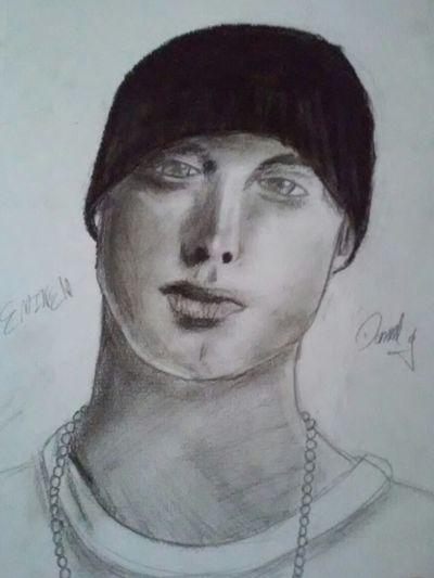 Another drawig by my son! Art Charcoal Drawing Eminem Young Artist Artist Marshall Mathers Charcoal