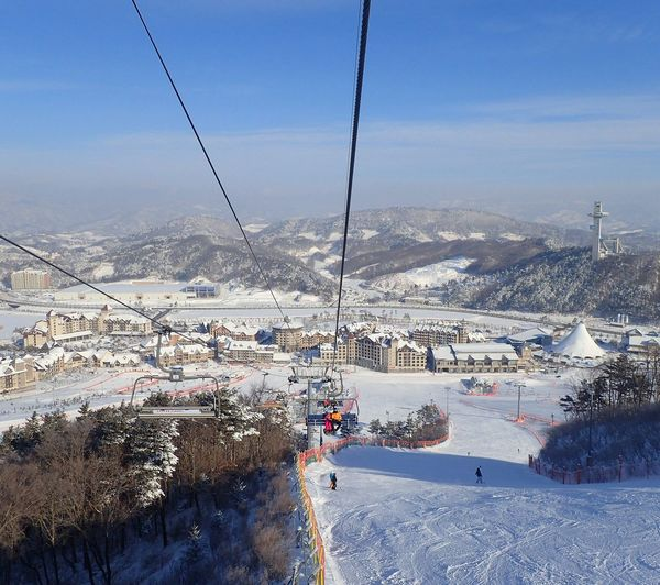 ⛄⛄⛄ALpenSia ski reSorT⛄⛄⛄ Alpensia Ski Resort Cold Temperature Snow Outdoors Winter Ski Lift Mountain Southkorea Yongpyongwinterolympics2018 Yongpyong WinterOlympics Winterfairytale Outside Photography Day Nature
