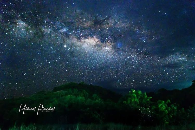 The Galactic Core as seen in Calaguas Island Calaguas EyeEm Selects Astronomy Galaxy Milky Way Space Star - Space Constellation Mountain Tree Forest Science Space And Astronomy Astrology