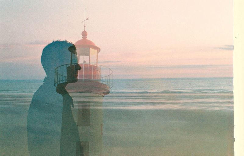 la vie en rose. Erquy Water Beauty In Nature Paysages Springtime Grain Silhouette Nature Men Young Adult Portrait Sea My Love Nikonf Argentic Nikon Double Exposure Analogue Photography Film Photography Oldcamera Kodak Portra Summertime Travel Horizon Over Water Adults Only The Traveler - 2018 EyeEm Awards