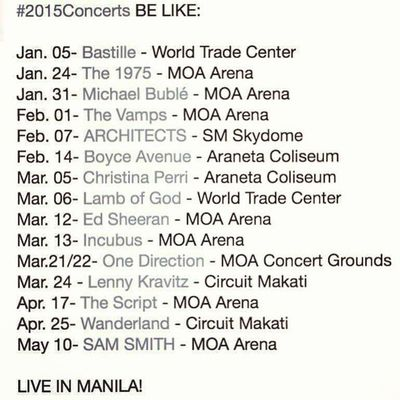 Concert buddies, anyone? :)