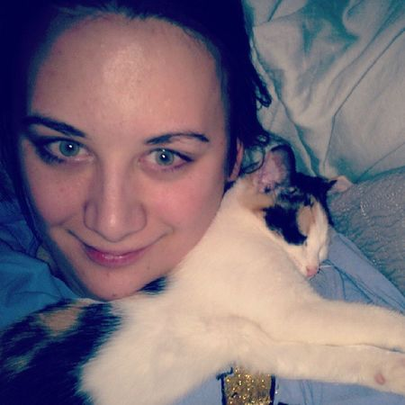 Grace and I watching the Life of Pi Herfavoritespot Kittensnuggles