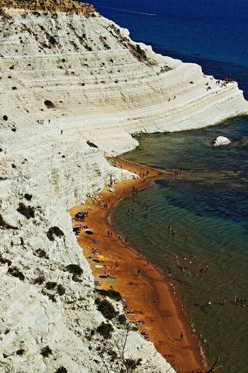 scala dei turchi Beach Beauty In Nature Blue Coastline Estate2015 High Angle View Idyllic Mare Remote Sand Scenics Sicilia Tranquility The Great Outdoors - 2016 EyeEm Awards