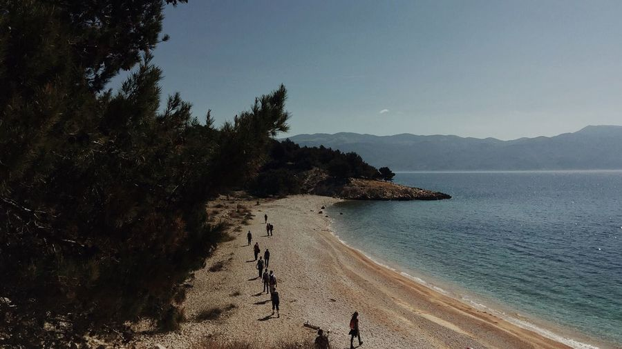 """Beach marching"", Baska, Krk Island, Croatia, 2017. Vrzenica Baska Croatia Beach Sand Nature Sea Beauty In Nature Krk Island Outdoors Scenics Vacations Water Marching March Tree"
