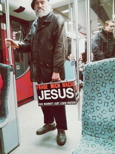 Visual Statements Jesus Religious Advertising Ubahn Stand Out From The Crowd